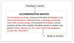 Accommodation wanted format