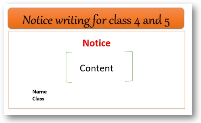 Notice writing format for class 4 and 5