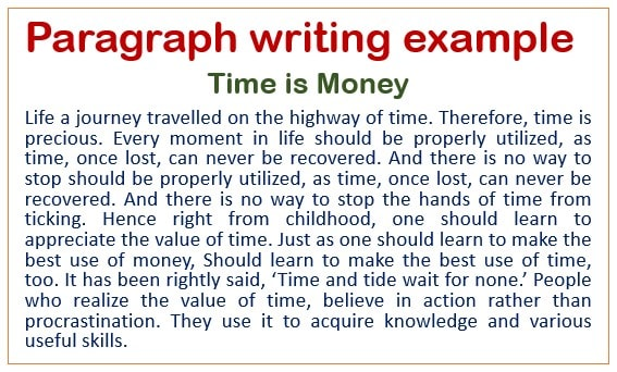passage writing examples